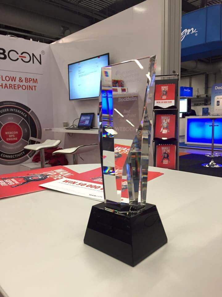 Best SharePoint Solution Award 2015 for WEBCON