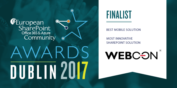 ESPC 2017 Dublin Awards for WEBCON