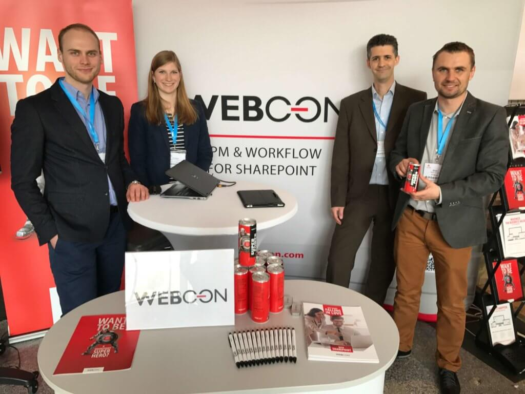 WEBCON booth at Intra.NET Reloaded Berlin 2017