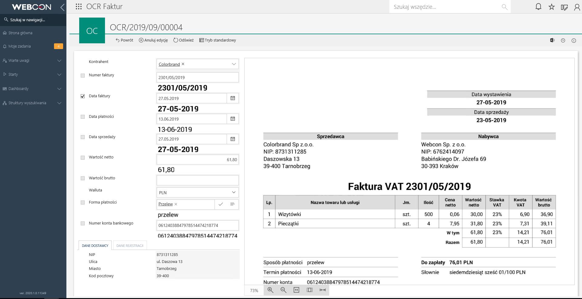 OCR w WEBCON BPS