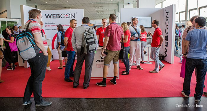 WEBCON's booth at ECS 2018