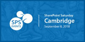 SharePoint Saturday Cambridge conference