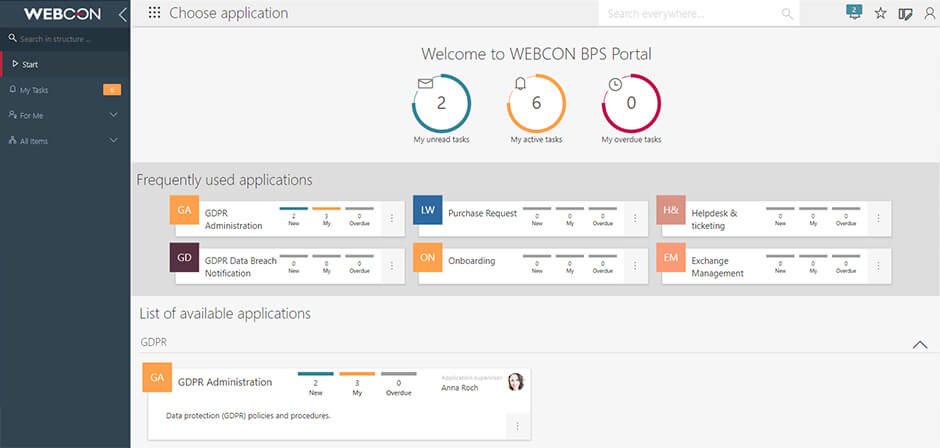WEBCON BPS Portal new version 2019