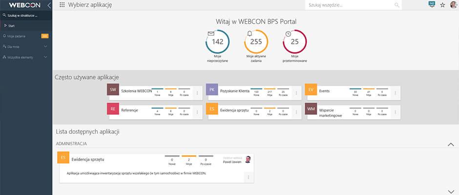 WEBCON BPS Portal nowa wersja 2019