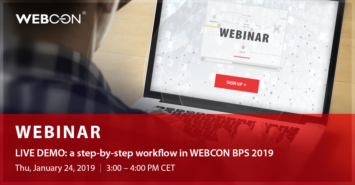 WEBINAR - a step-by-step workflow in WEBCON BPS 2019