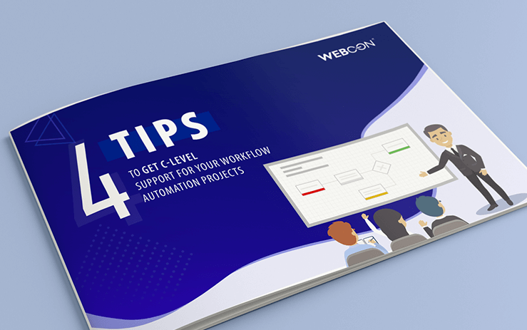 4 tips to get c level support-for-your-workflow-automation projects ebook cover