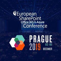 European SharePoint Office365 & Azure Conference Prague 2019