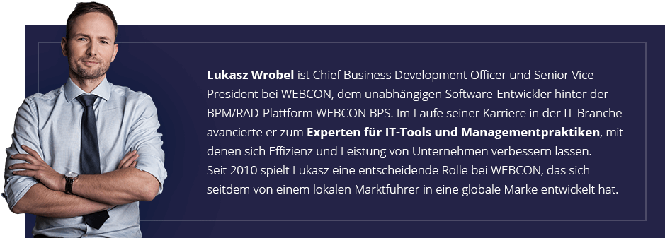 Łukasz Wróbel CBDO Vice President WEBCON - bio