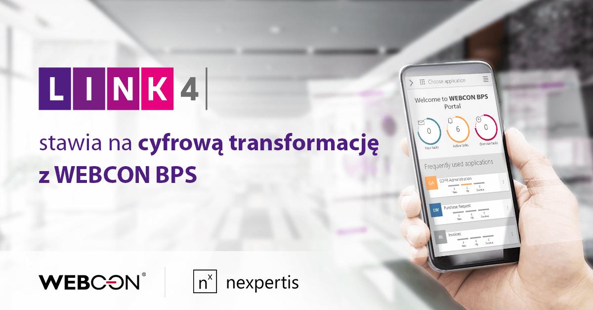 LINK 4 stawia na cyfrową transformację z WEBCON BPS