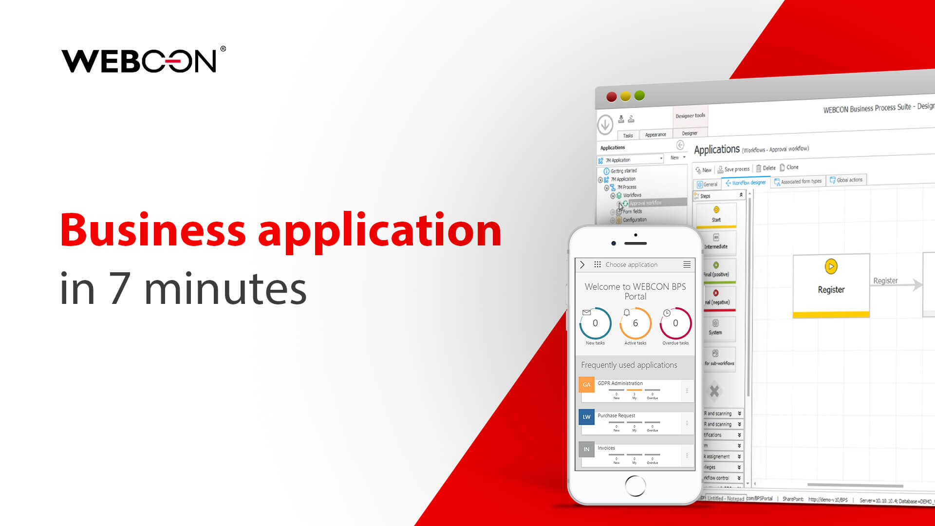 Business application in 7 minutes WEBCON BPS
