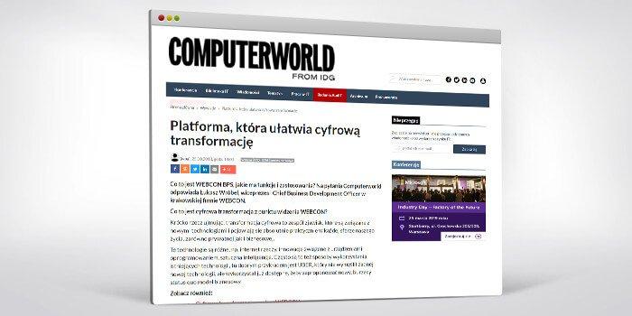 Platforma, która ułatwia cyfrową transformację - Computerworld o WEBCON