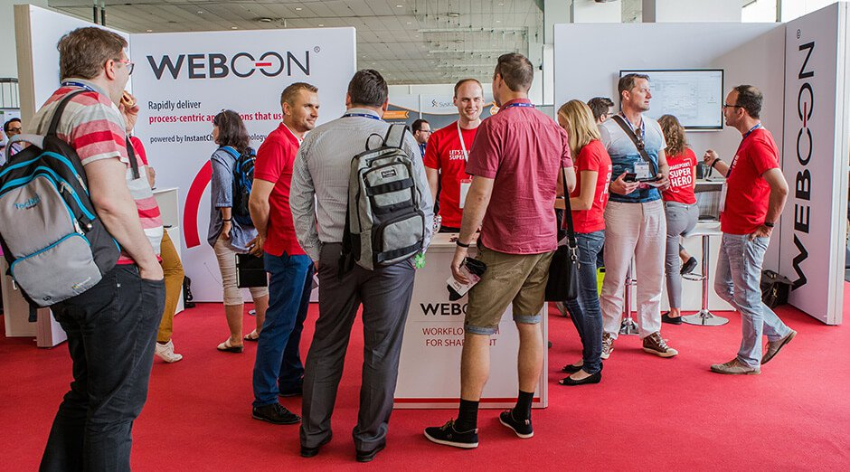 WEBCON booth at European Collaboration Summit 2018