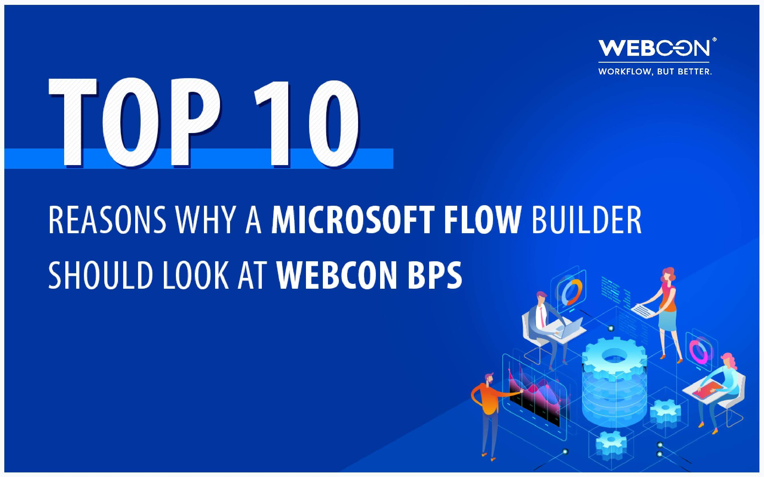 WEBCON whitepaper cover - Why MS Flow Builder Should Look at WEBCON BPS