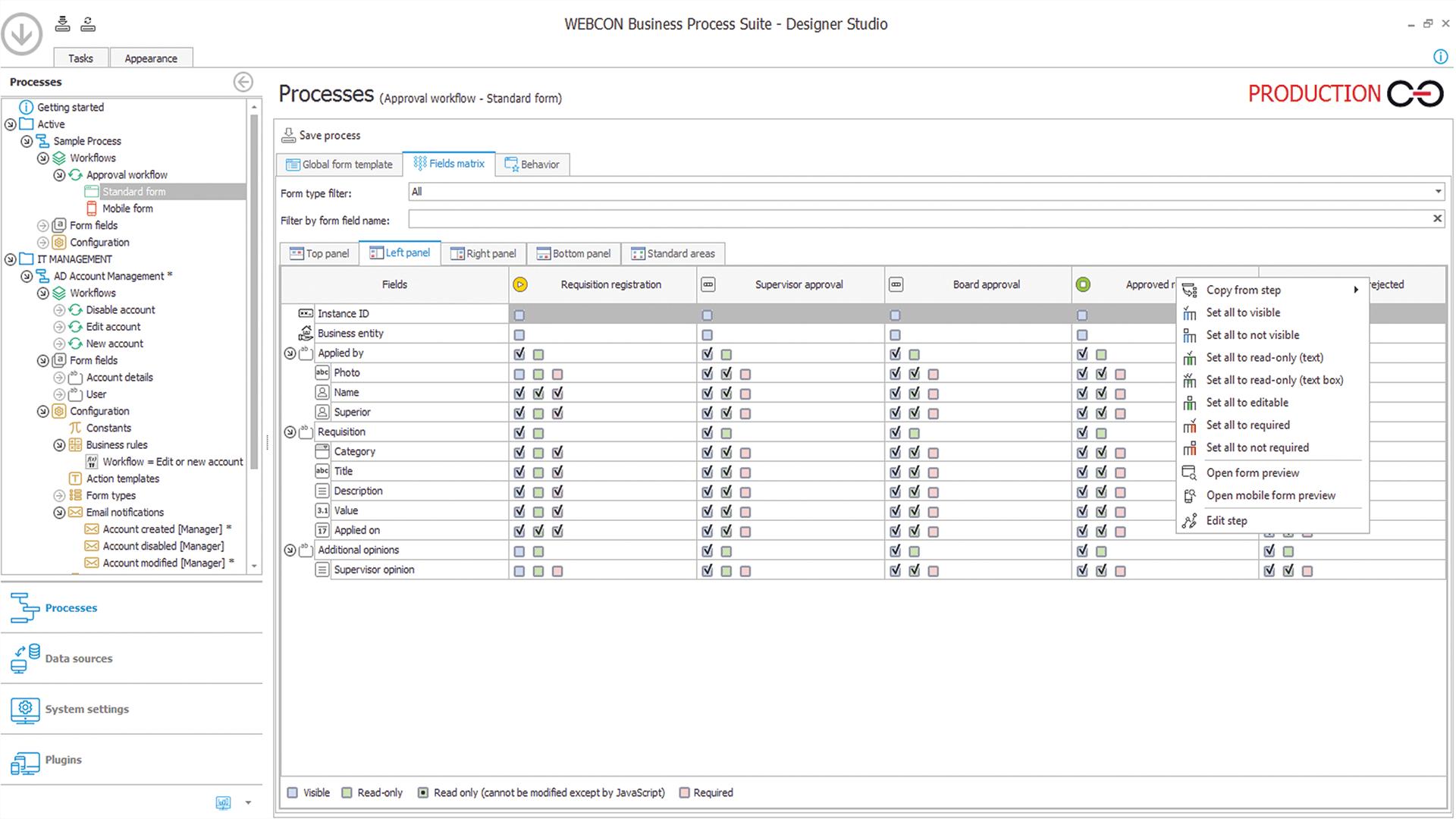webcon bps workflow designer studio