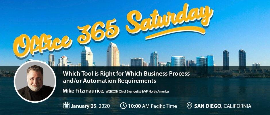 Office 365 Saturday San Diego 2020