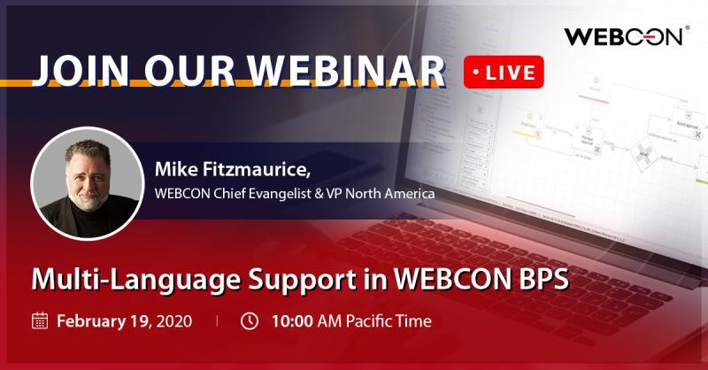 webcon webinar multilanguage support