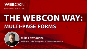 webcon webinar multi page forms