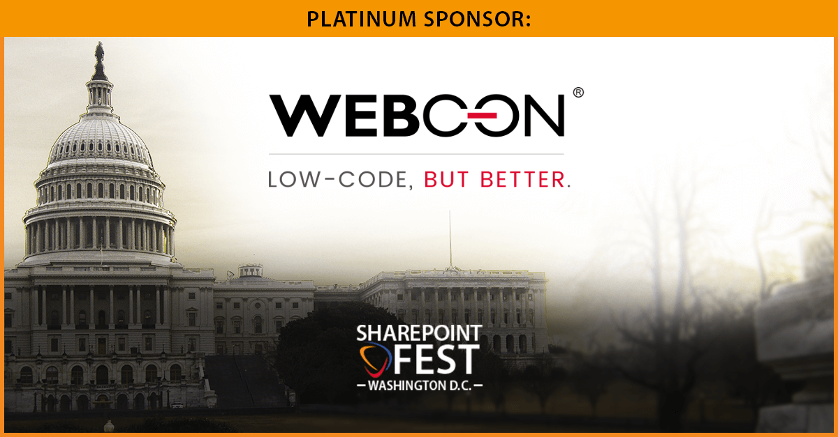webcon at sharepoint fest washington dc