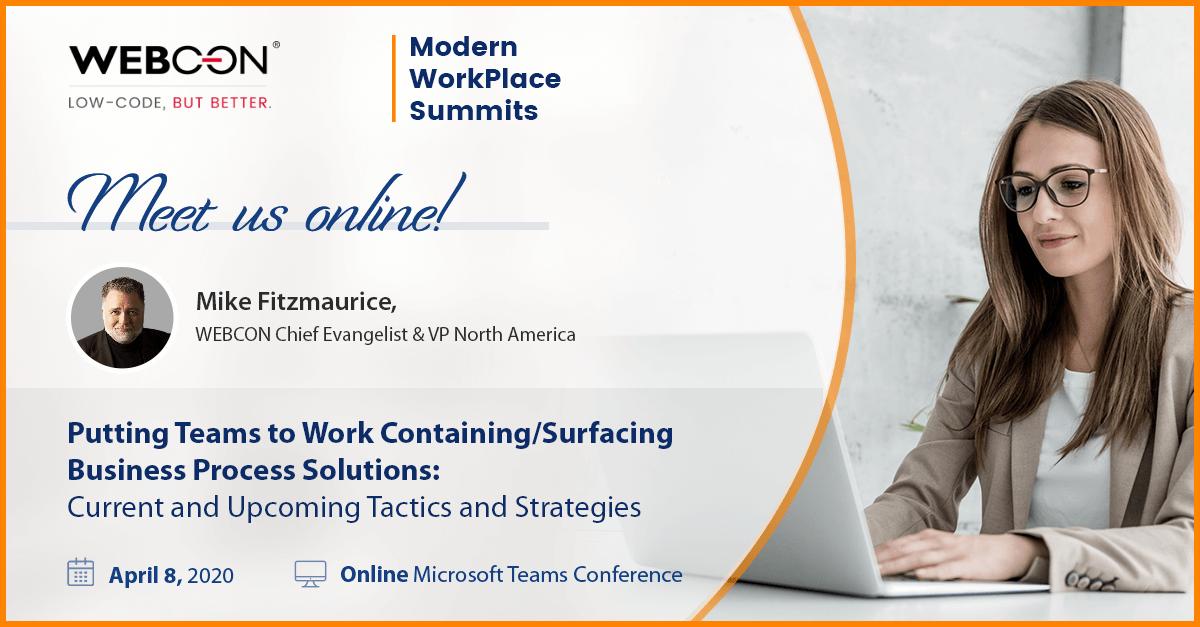 webcon at modern workplace summit