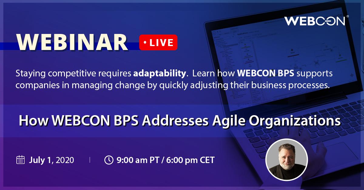 webcon webinar agile organizations