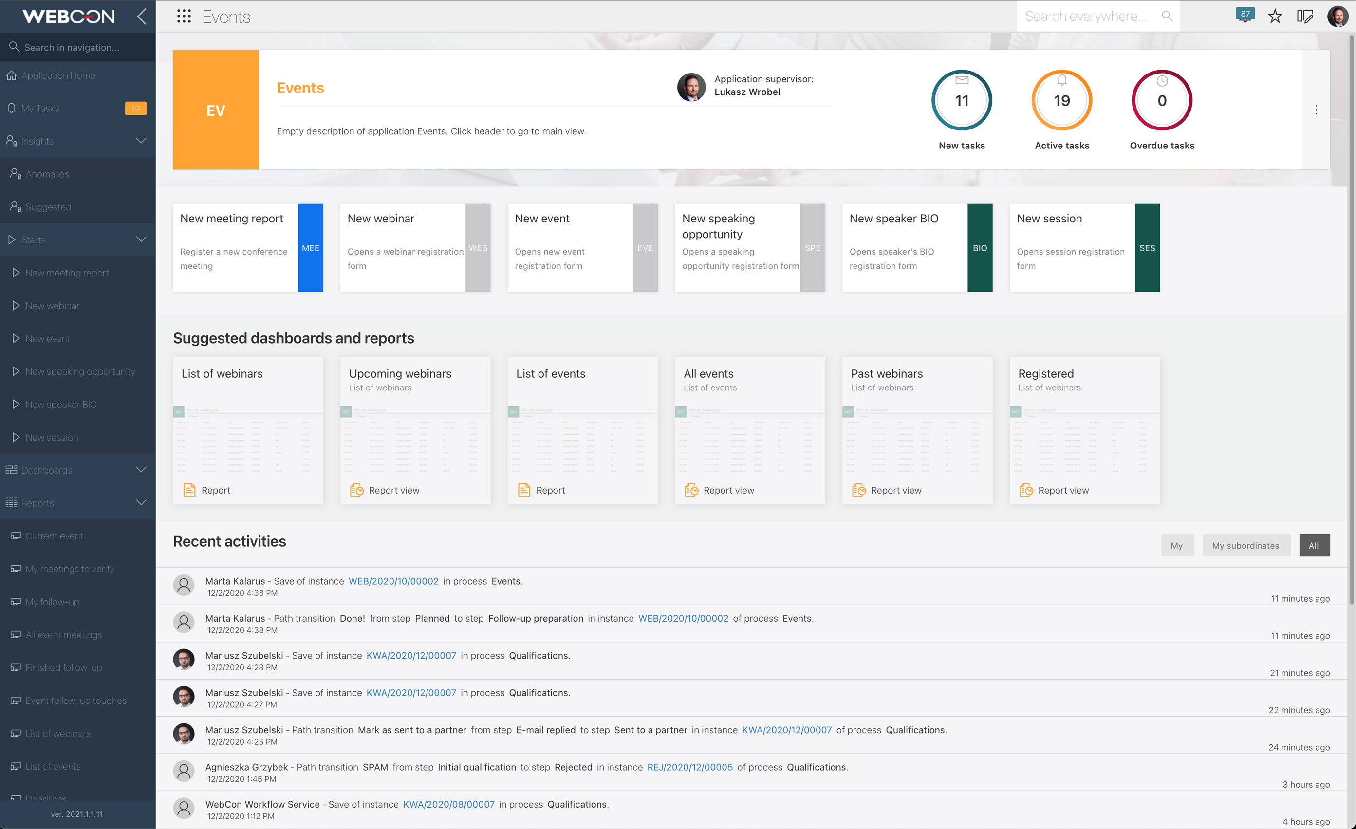 WEBCON BPS 2021 - new release of Low-Code Application Development Platform for Workflow and Process Automation