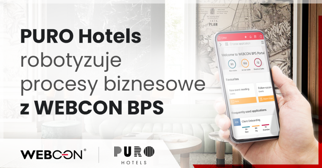 PURO Hotels robotyzuje procesy z WEBCON